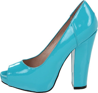 Betsey Johnson Neon Blue Pump