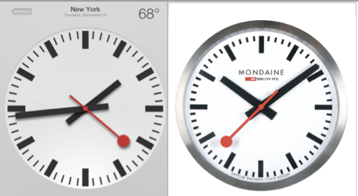 Apple Agree licensee Design Swiss Clock