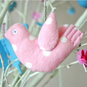Easter fabric birds by Torie Jayne