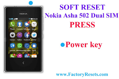 Soft Reset Nokia Asha 502 Dual SIM