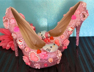Hello Kitty high heel kawaii lolita pink shoes