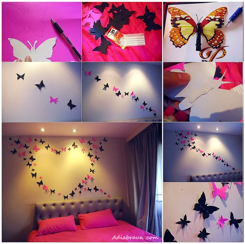 DIY Butterfly Wall Decoration