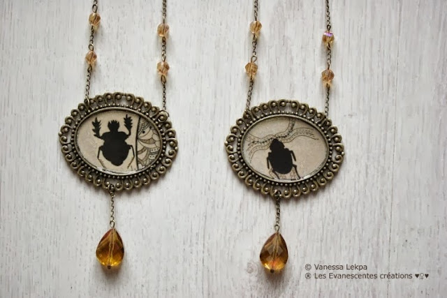 bijoux accessoires sorcière talisman magie collier cristal samhain fait main france sabbath