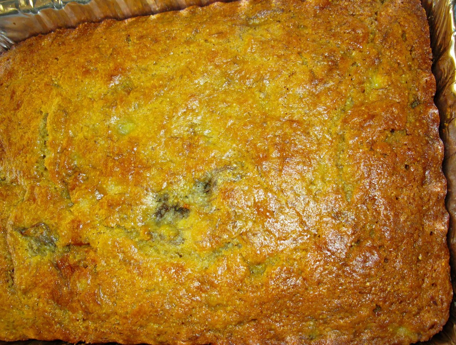 GOOD LIFE Living Well: Roasted Banana-polenta Cake RECIPE & .Photos