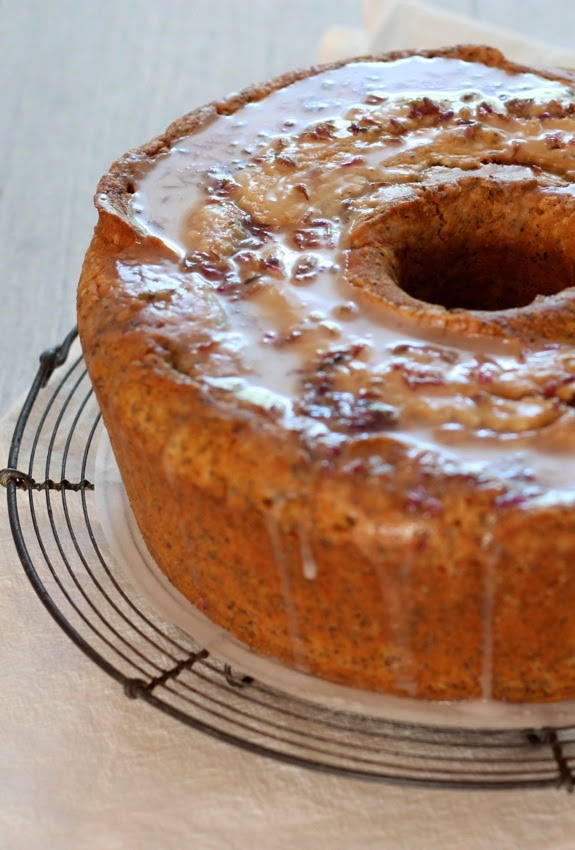 Lavender Pound Cake With Lemon Glaze