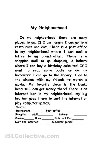 Writing Essays My Neighborhood Essay Essay Of Internet also Public Health Essays My Neighborhood Essay  Pay To Do My Essay Personal Narrative Sample Essay