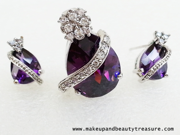 Jewelry Lust: Infinity Purple Crystal Jewelry Review