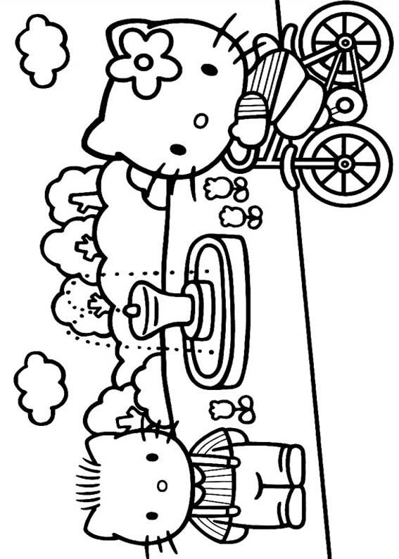 Desenhos Para Colori Hello Kitty desenhar