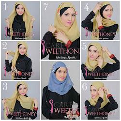 Cara Memakai Aksesoris Jilbab