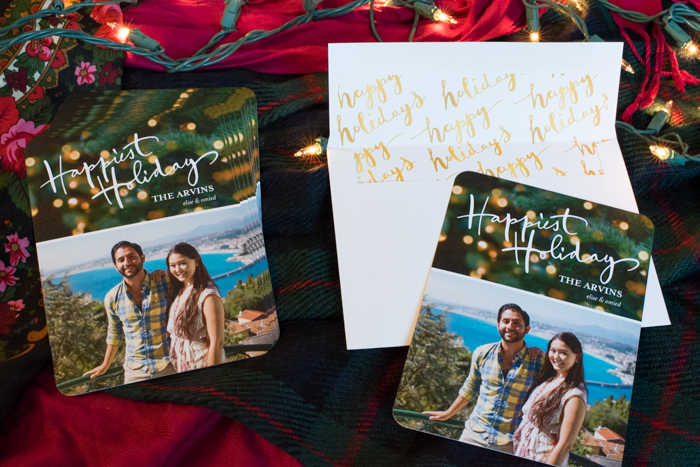 cute couple holiday card
