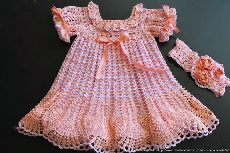 Niño en Casa: Ropa para niñas en crochet
