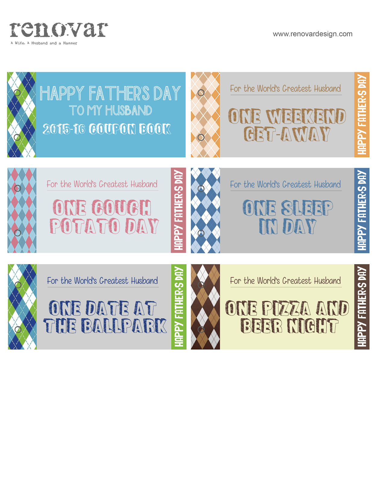 from gardners bergers renovar father s day printable coupon book renovar fathers day coupon book via fg2b