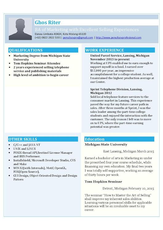 contoh resume yang sudah siap