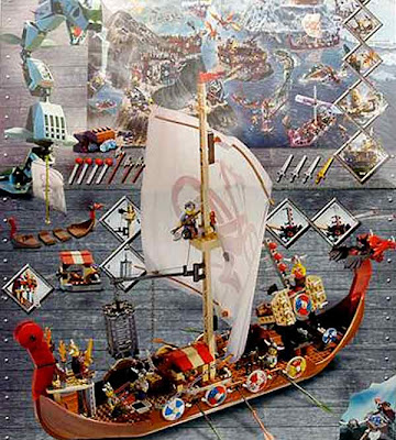 7018 Lego set North Sea Viking dragon ship soldiers have four mighty monster slaying arrows crossbow