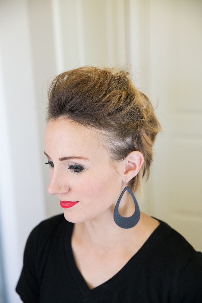 How To Create A Faux Hawk Long Pixie Or Bob Tutorial One Little Momma