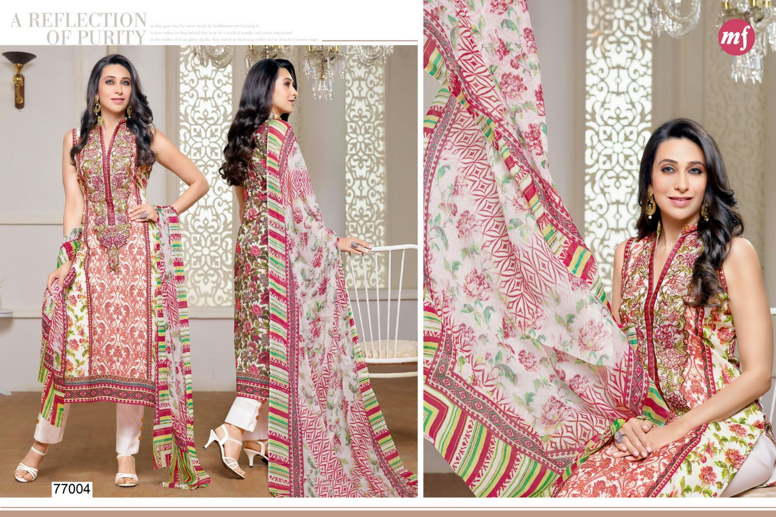 Essenza Vol 5 – Stylish Embroidered Salwar Suit With Digital Print Dupatta