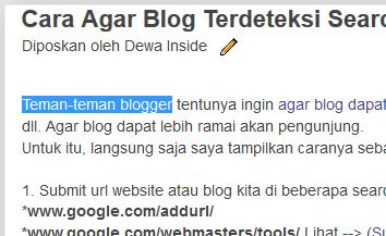 Mematikan Fungsi Selection Blok Text pada Blog