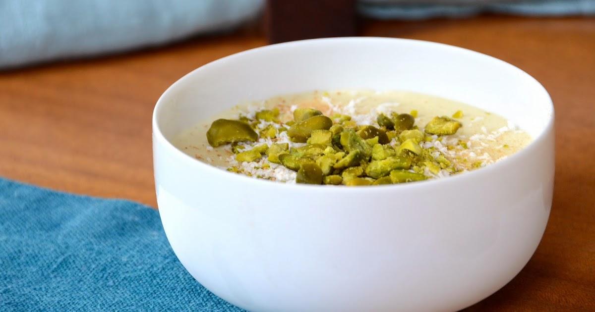 Dessert vom indischen Menü: Mandel-Orangen-Flan / Safransauce / Kulfi