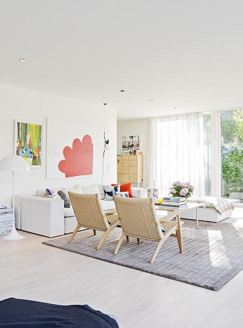 Fönster fönster vardagsrum : studio karin: ATT INREDA MYSIGT I NYBYGGDA MODERNA HUS