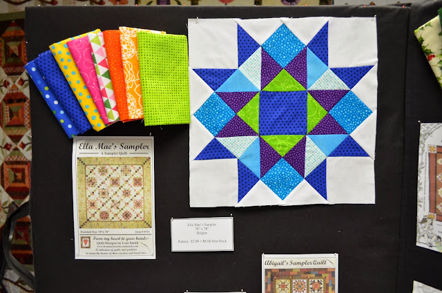 Ella Mae's Sampler  (78''-x-78'')  Style: Brights | First Block: $5 | Pattern: $7.99