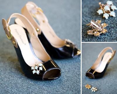 Adornos de zapatos con pendientes en Recicla Inventa