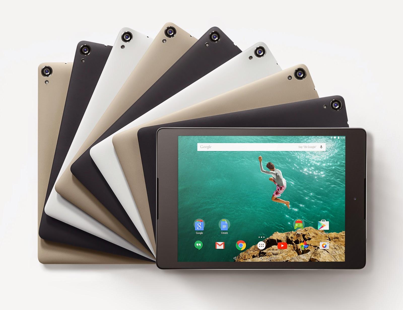 Nexus 9 official colors
