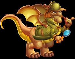 imagen del dragon detectivo de dragon city