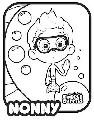 Bubbles Coloring Page