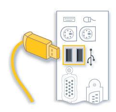 Подключите кабель USB к компьютеру только тогда, когда программ установки запросит