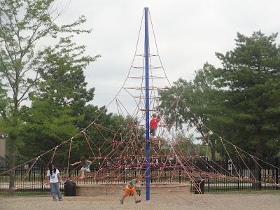 Warren township center playground climbing structure