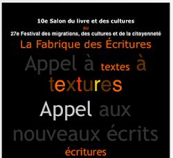 """MES POÈMES EN """"FABRIQUE DES ÉCRITURES""""-CHAPITRE I - 2010 (LUXEMBOURG)"""