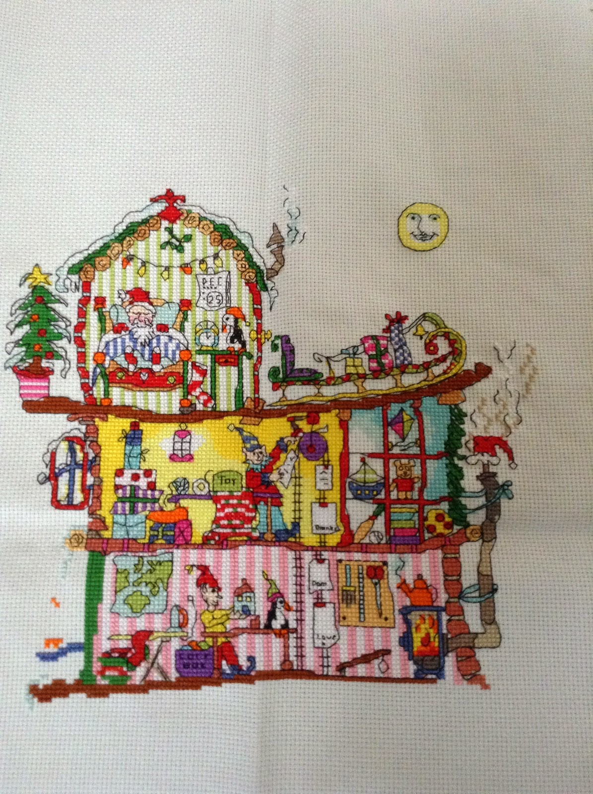 North Pole House Bothy Threads Cross Stitch