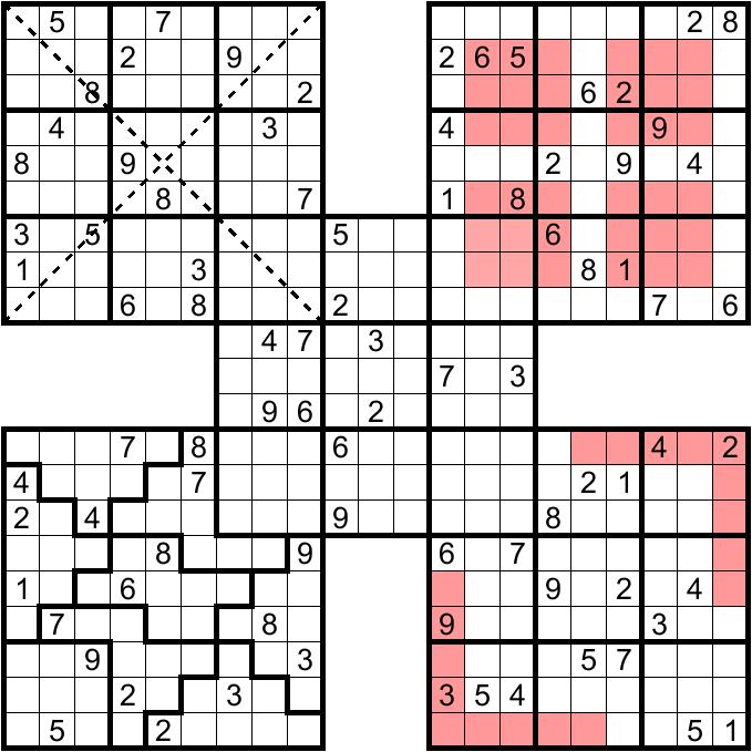 Samurai Sudoku Samurai sudoku n2