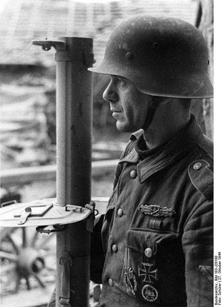 Soldier of Wehrmacht and panzerschreck
