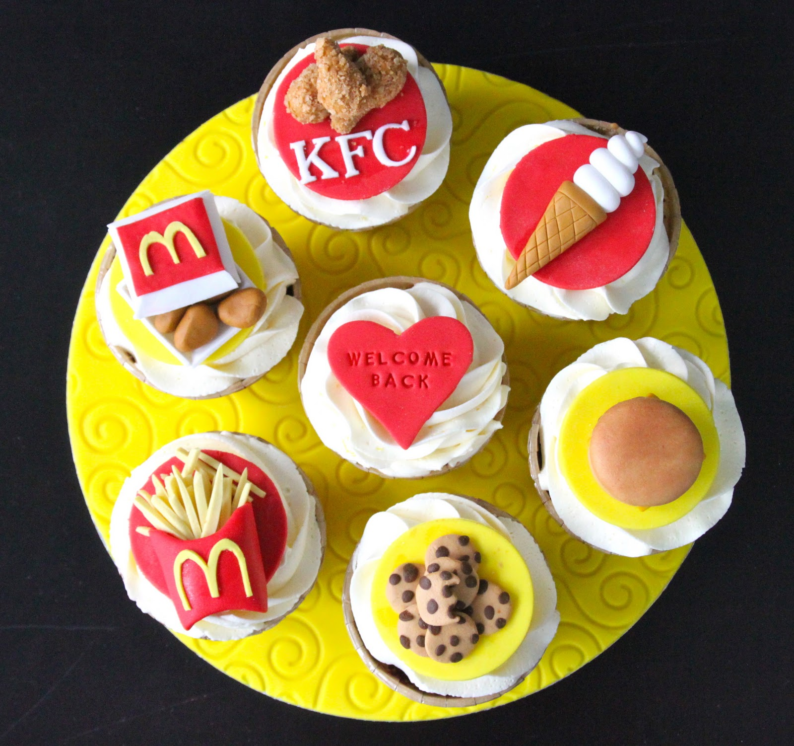 fast food cupcakes