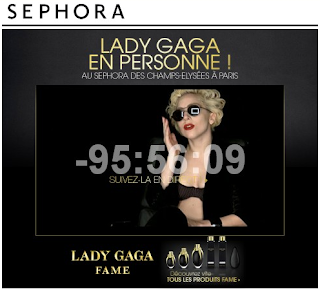Lady Gaga chez SEPHORA Champs-Elysées