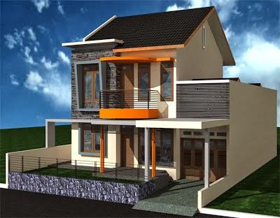 desain rumah minimalis 2 lantai type 60 desain denah