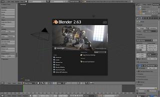 Zrzut ekranu programu graficznego Blender