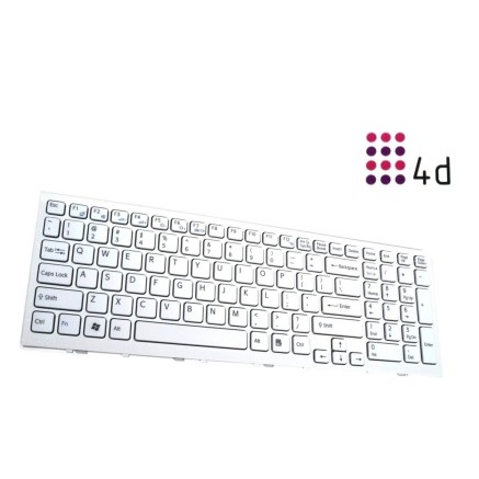 4d - Sony-EH-Series White Wireless Laptop Keyboard (White) Price: Rs. 1,899