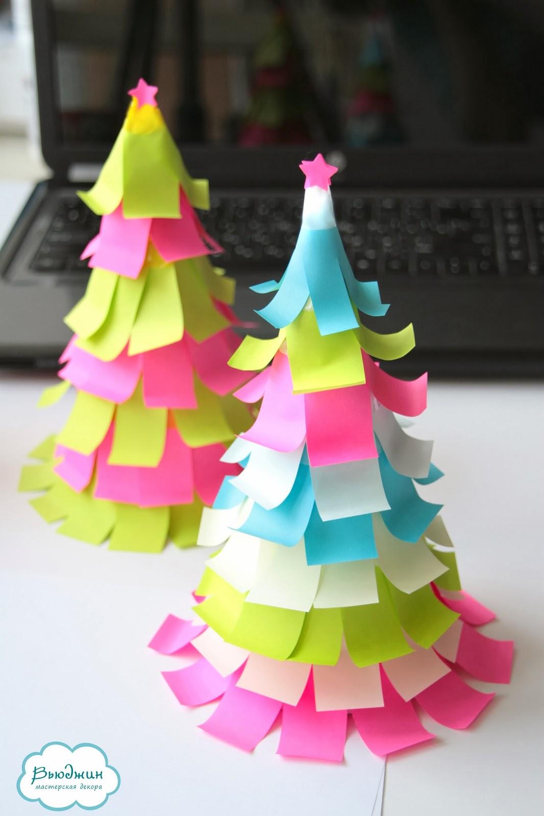 Как сделать новогодние украшение своими руками из бумаги