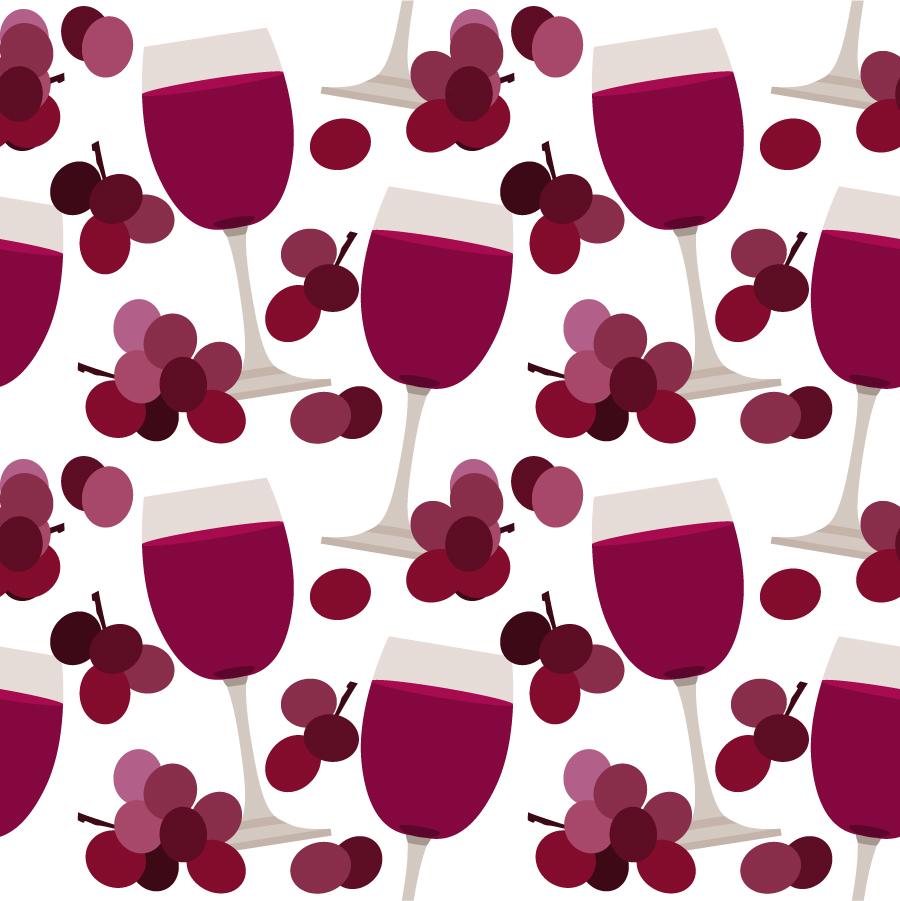 グラスワインの背景 cartoon wine pattern background イラスト素材