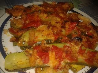 teglia di zucchine e pancarrè al profumo di basilico