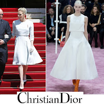 CHRISTIAN DIOR Dress CHRISTIAN DIOR Pumps - Princess Charlene Style