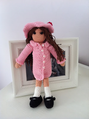 Virkad docka,  crocheted doll