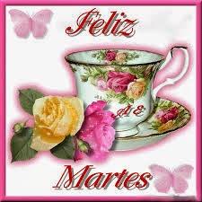 imagen de feliz martes con rosas