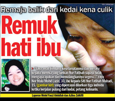 Fenomena gadis hilang serta culik di malaysia