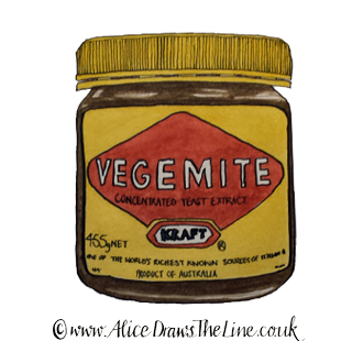 www.AliceDrawsTheLine.co.uk :: Vegemite