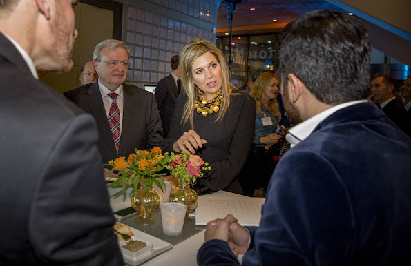 "Queen Maxima of The Netherlands attended the launch of the ""State of the SMEs"" (Small and medium-sized companies) in The Hague"