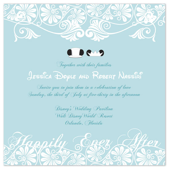 Disneyland Wedding Dreams: Disney Wedding Invitations