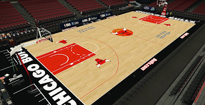 NBA 2K14 Bulls United Center HD Court Mod